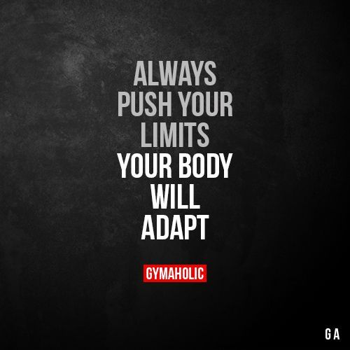 Always push your limits Your body will adapt  War Room