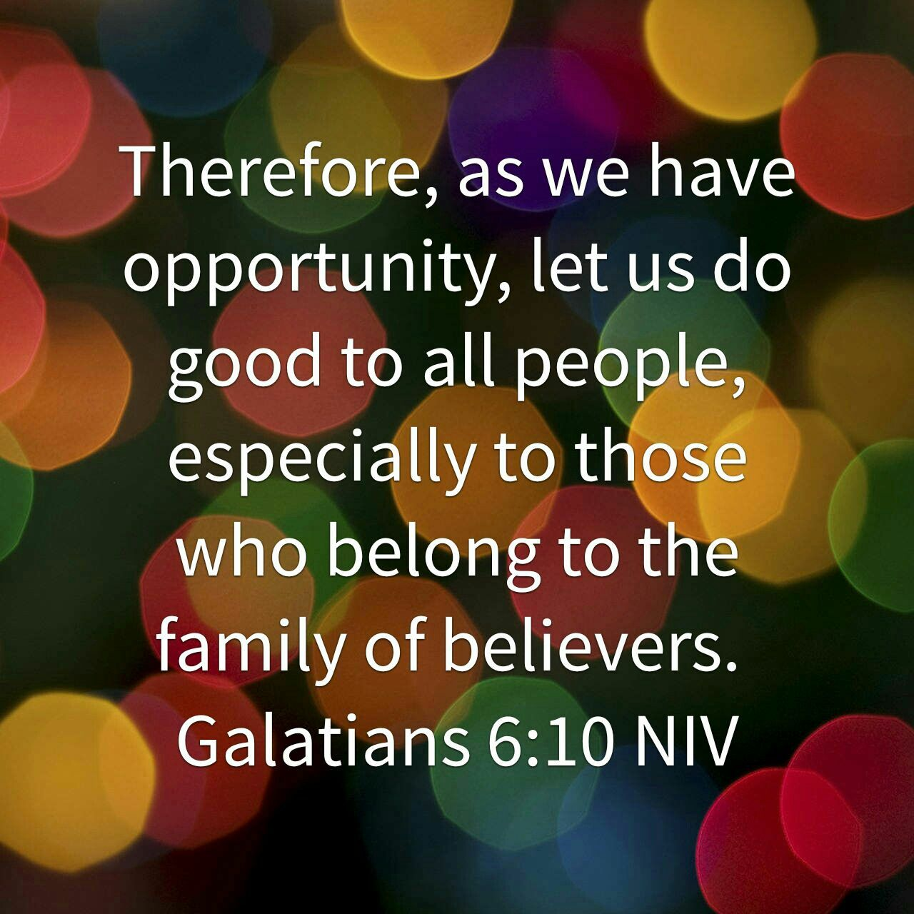 Image result for Galatians 6:10