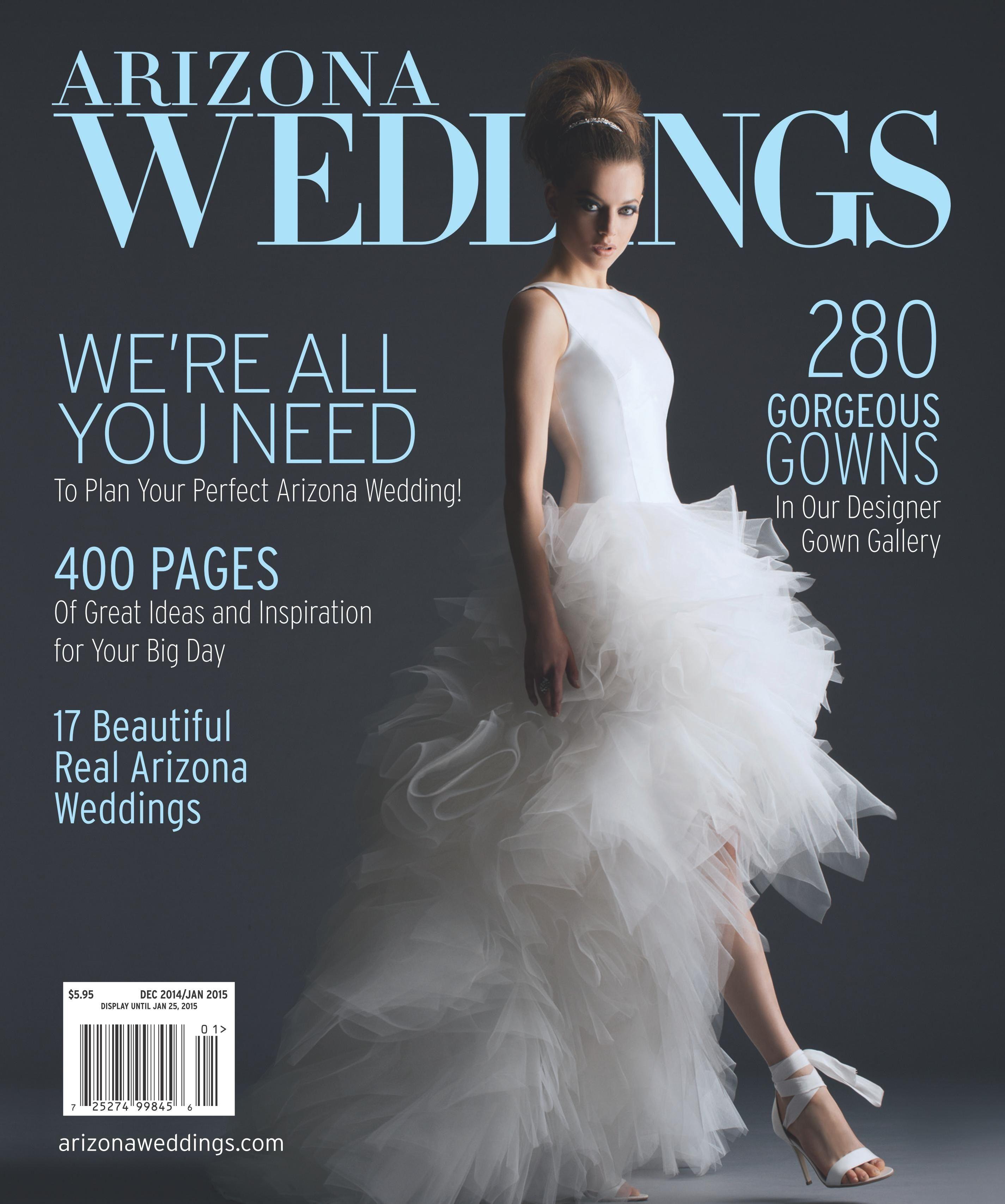 Arizona Weddings Magazine 2014/2015 December/January Cover!