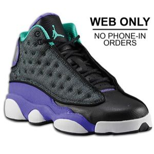 meet 07cc7 0606b Jordan Retro 13 - Girls  Grade School - Black Atomic Teal Ultraviolet White