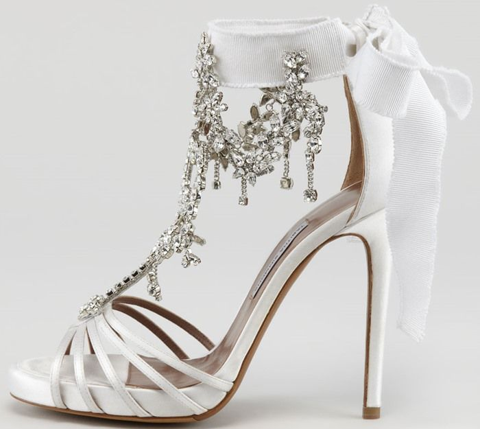 Tabitha Simmons Chandelier Sandals The Perfect Wedding Shoes