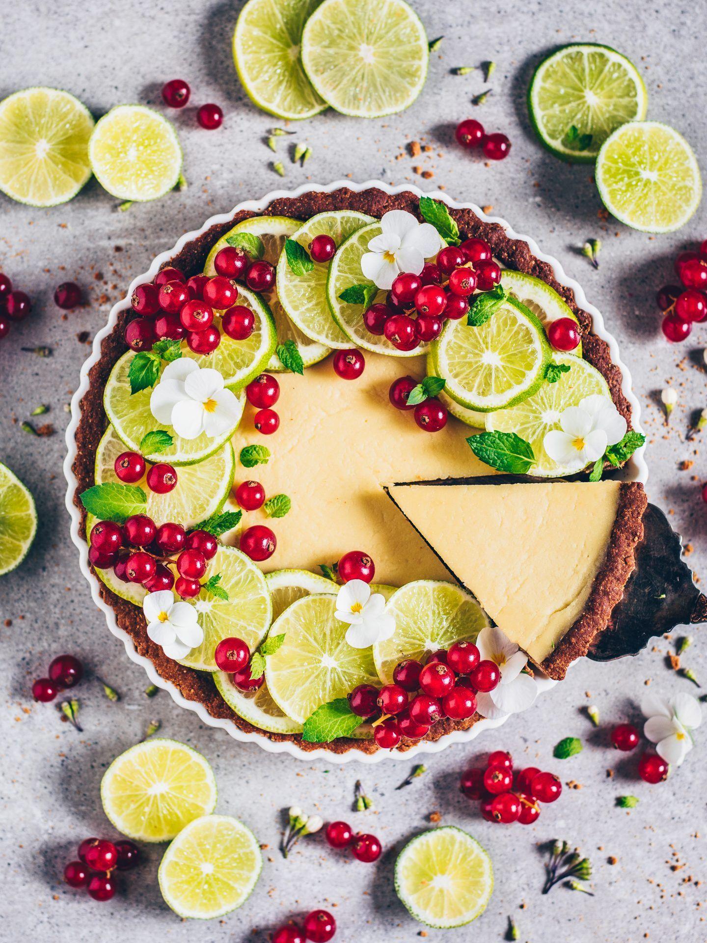 Limetten-Tarte (Vegan, Glutenfrei) Limetten-Tarte (vegan, glutenfrei) Gluten Free Recipes gluten free key lime pie