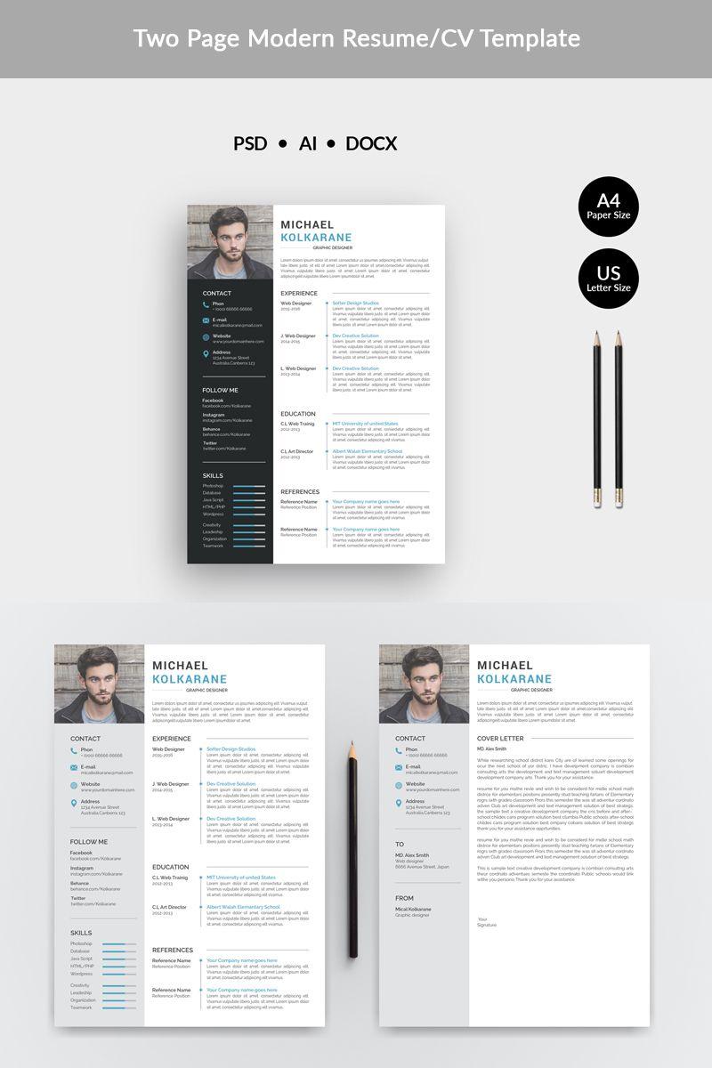kolkarane modern resume template web templates design inspiration