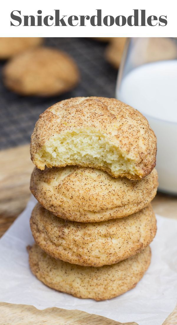 Soft and Chewy Snickerdoodles is part of Snickerdoodles - The classic soft and chewy Snickerdoodles recipe is made with butter, sugar, eggs, and flour and rolled in cinnamon sugar mix  These cookies have a famous crunchy outside texture and soft and moist inside