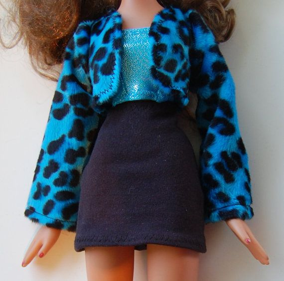 """PDF pattern for 24"""" Big Bratz Dolls -Jacket Skirt Top make it yourself - by TKCT.  Lots of pictures, full size pattern pieces and easy to follow instructions."""
