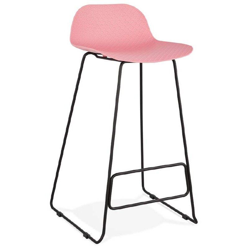 Tabouret De Bar Chaise De Bar Design Pieds Metal Noir Rose Poudre Ulysse Tabouret De Bar Chaise De Bar Design Chaise Bar