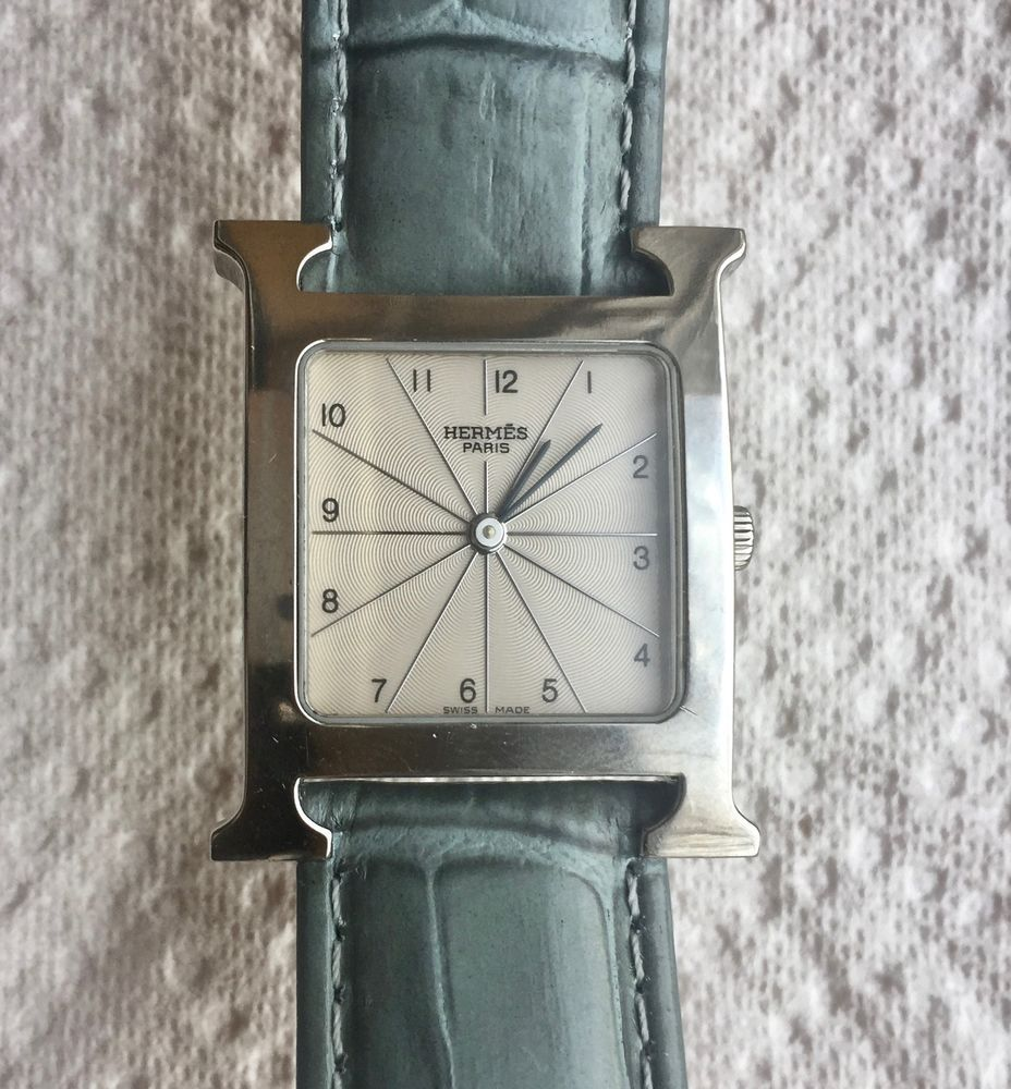 Women's Hermes Of Paris H Watch HH1.510  Stainless Leather Band     AR0800 #HERMS #Casual