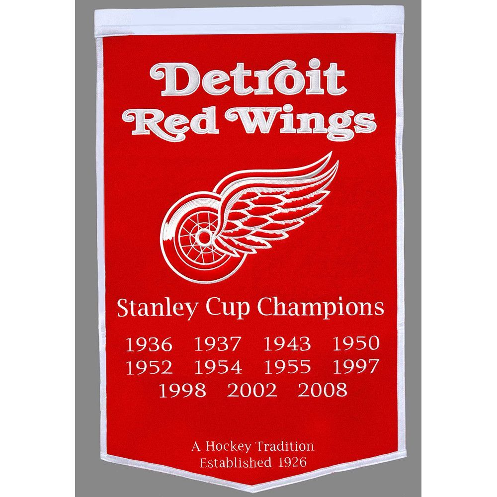 Detroit Red Wings NHL Dynasty Banner (24x36)