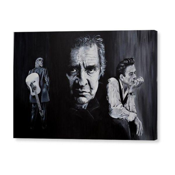 Hello I M Johnny Cash Canvas Print Canvas Art By Ken O Hara Canvas Prints Framed Prints Canvas Art