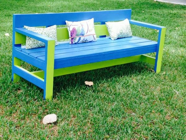 Do It Yourself Home Design: Ana-White's Modern Park Bench
