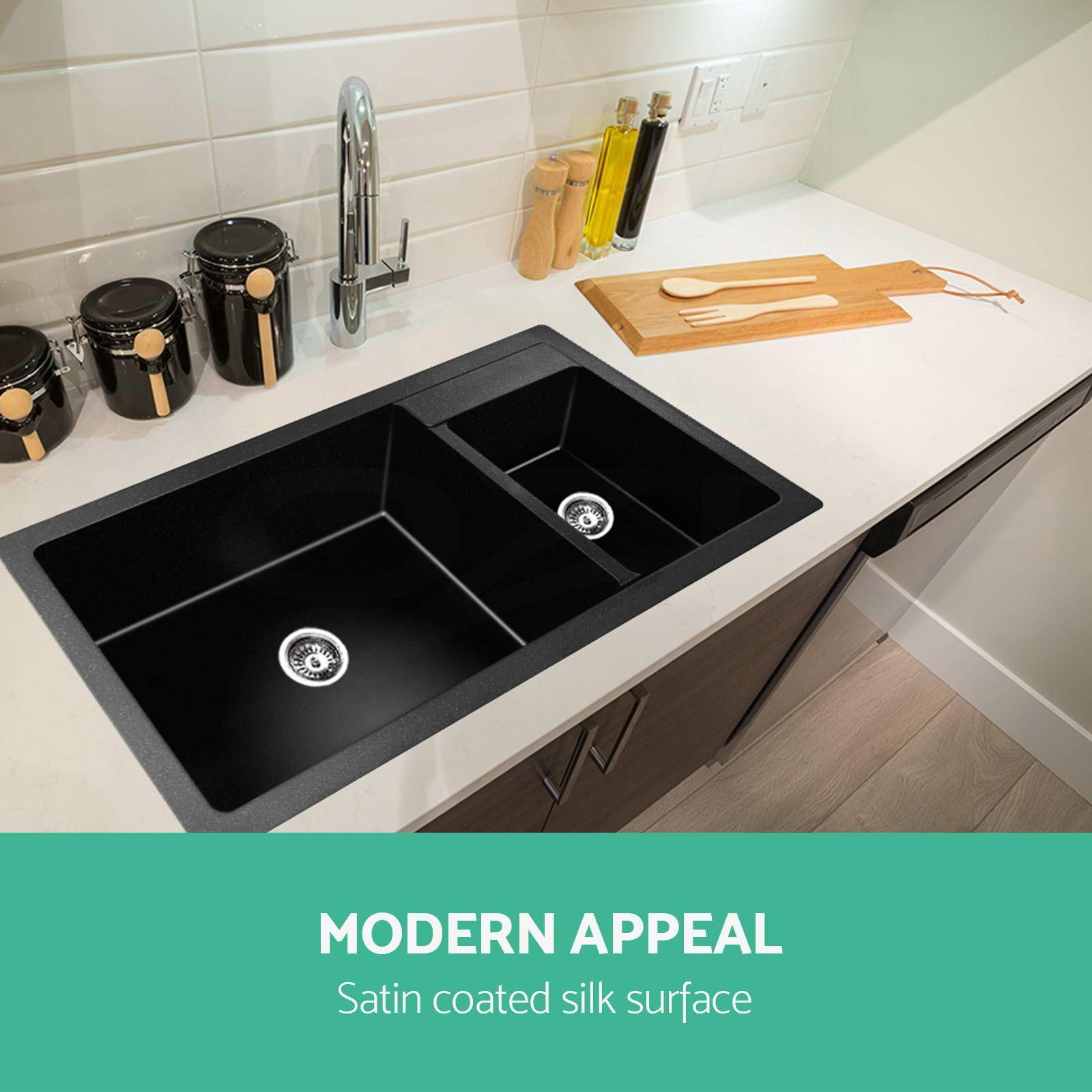 Premium black kitchen sink granite stone topundermount single premium black kitchen sink granite stone topundermount single double bowl workwithnaturefo