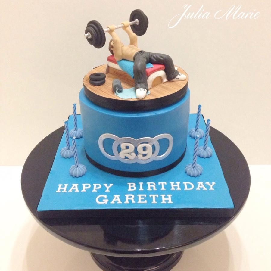 Body Builder Gym Cake By Julia Marie Cakes