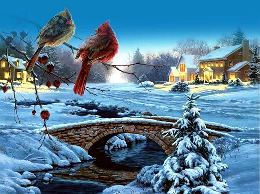 Открытка прекрасной зимы, рыбаками