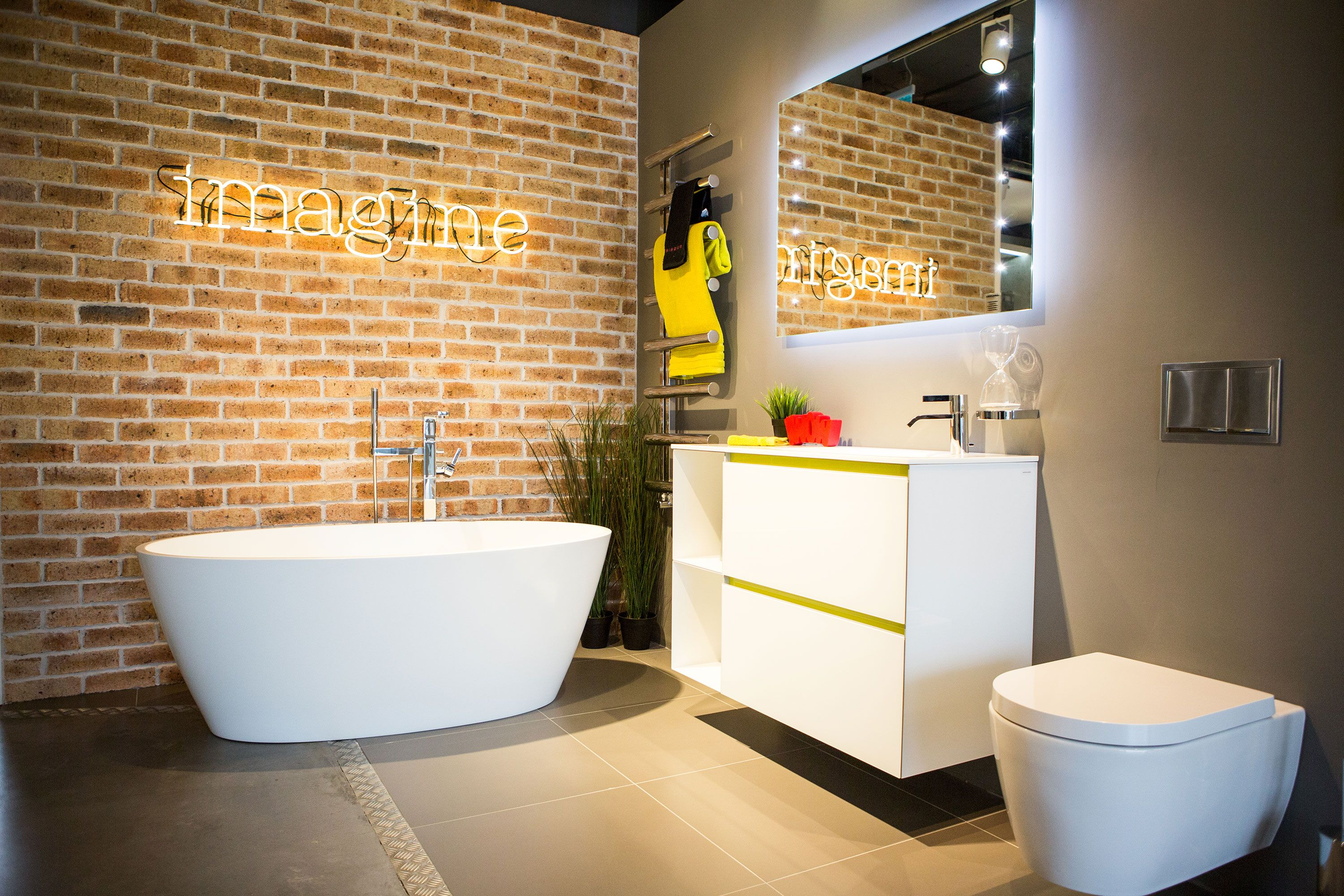 0fb107abe92 Our Leadon freestanding bath is on display at our Guildford showroom. Visit  us to view a wide range of traditional and contemporary roomsets.