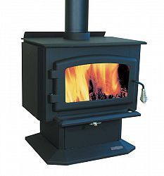 Adirondack Collection 25 3125 Wide High Efficiency Epa Certified Wood Stove With Free Standing Pedestal Wood Stove High Efficiency Wood Stove Small Wood Stove