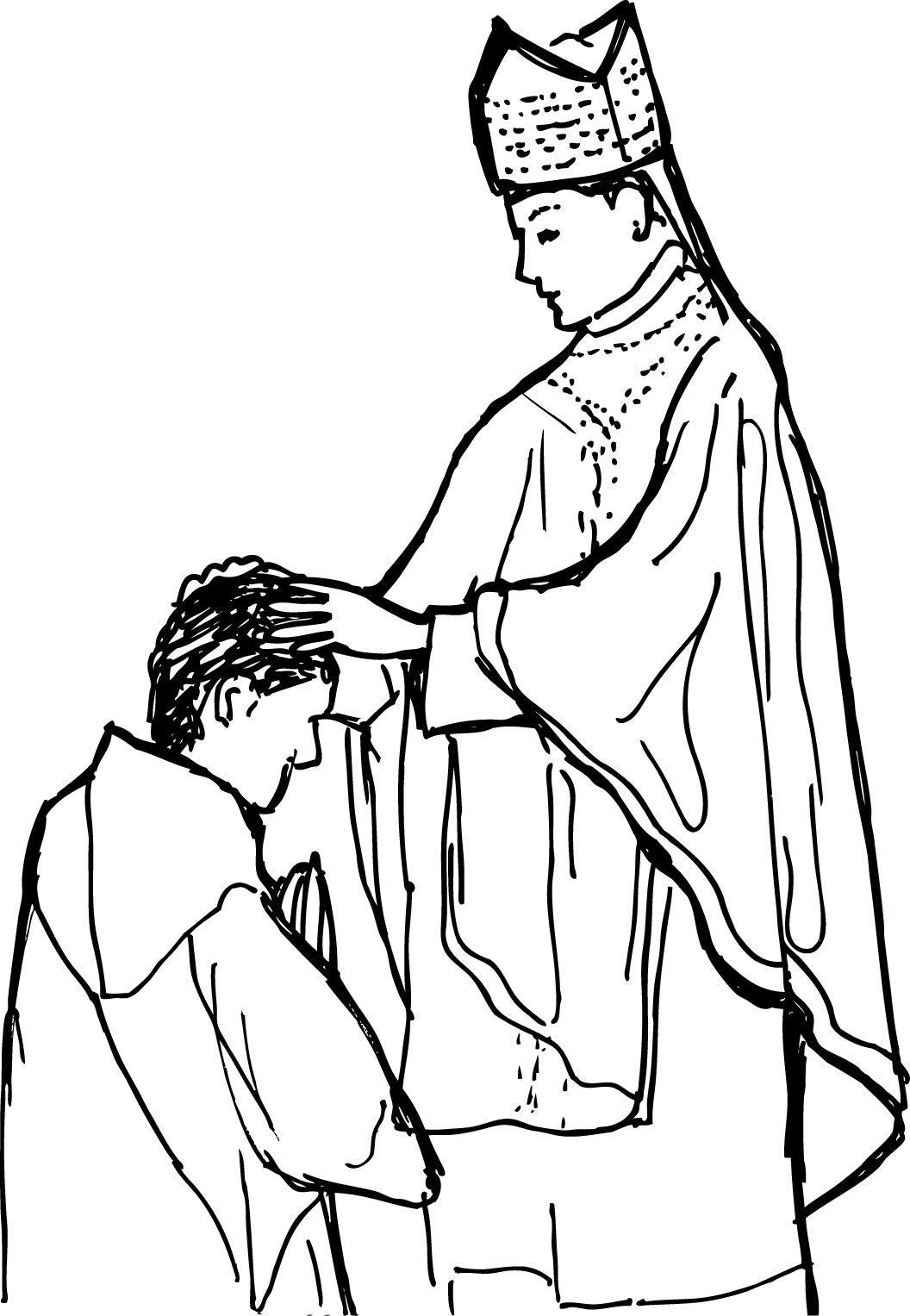 holy orders coloring page | sacraments of service | pinterest ... - Coloring Pages Catholic Sacraments
