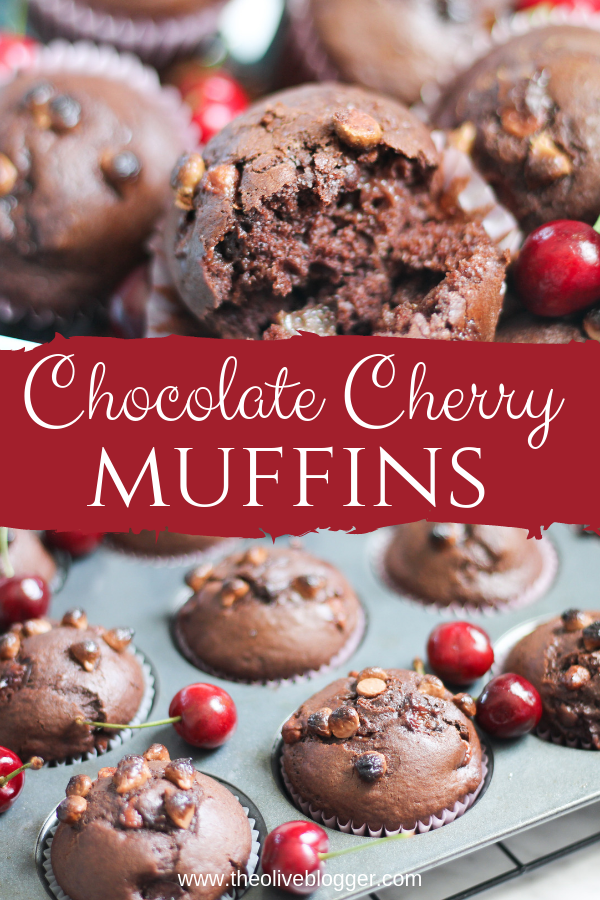 Chocolate Cherry Muffin - The Olive Blogger