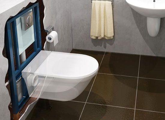 Cómo Instalar Un Inodoro Suspendido En El Baño. El Inodoro Suspendido Es  Una Pieza De Diseño Moderno Cuya Principal Característica Es Que La Taza  Está