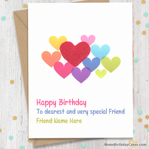 Write Name On Sweet Birthday Card For Friends This Is The Best Idea