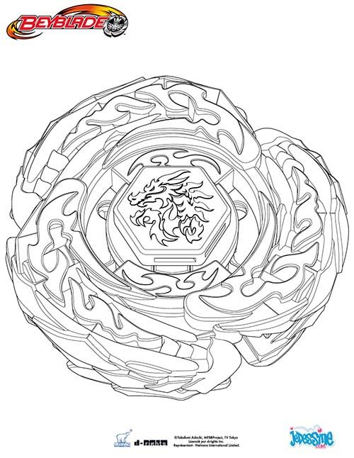 Coloriage BEYBLADE Coloriage L DRAGO DESTRUCTOR | COLORIAGE BEYBLADE ...