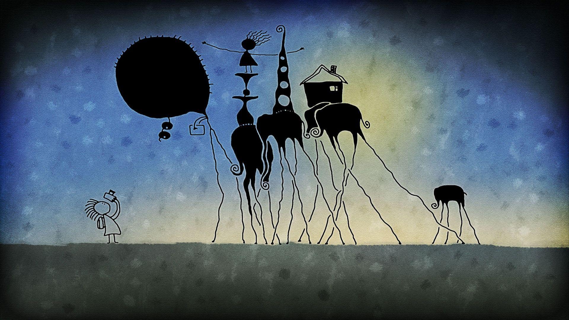 Long Legged Elephants Wallpaper Free Wide Hd Wallpaper