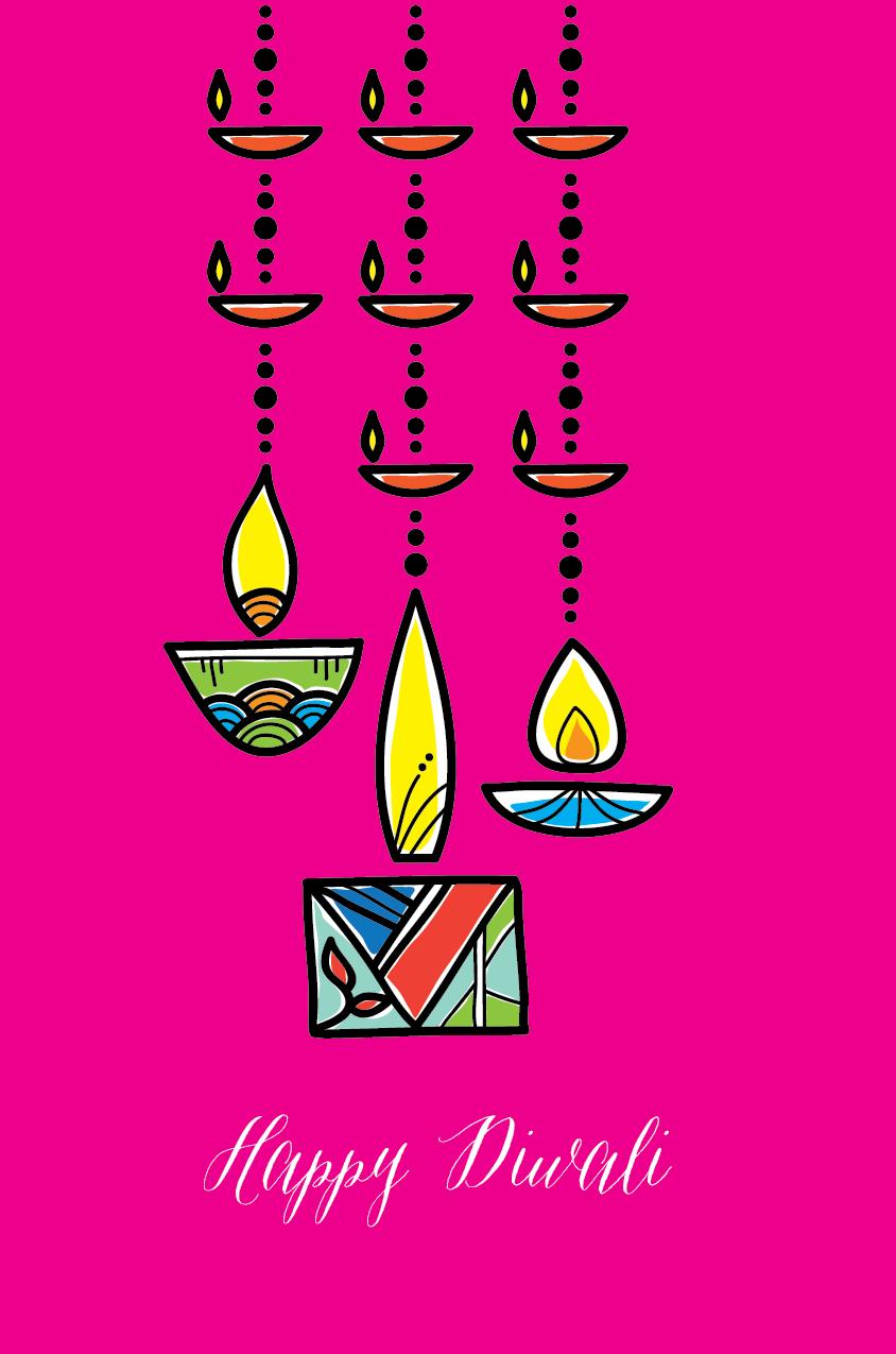 Swinging-Diyas, Diwali Cards, Festival Cards | diwali | Pinterest ...