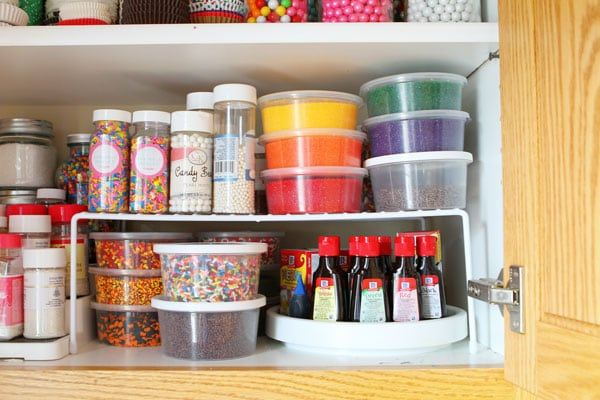 See Where I Store All My Sprinkles Food Coloring And Other