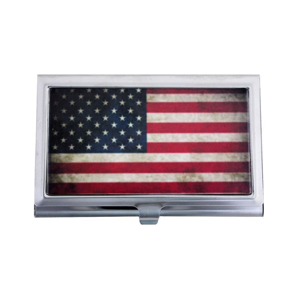 American Flag Stars and Stripes Business Card Case ID Holder ...