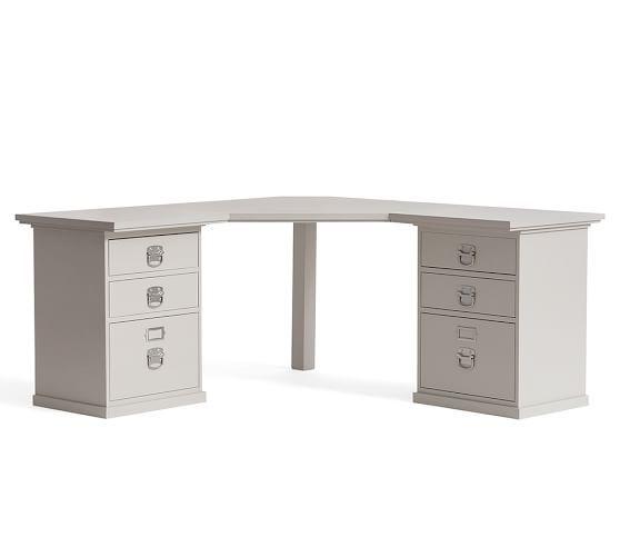 Bedford Corner Desk Norfolk Gray Potterybarn Corner Desk Desk Home Office Desks