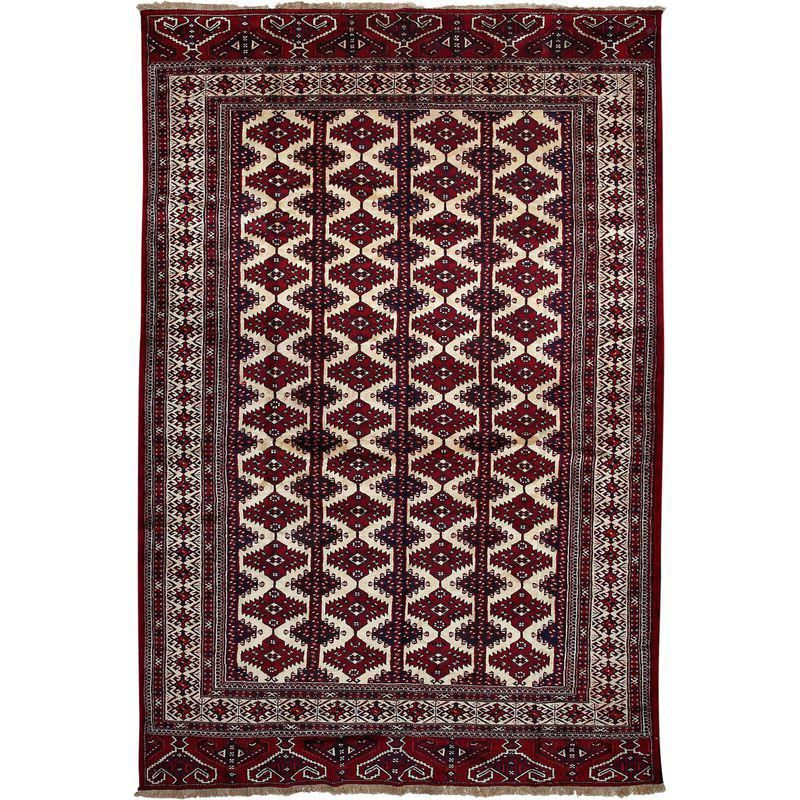 Torkaman Hand Knotted Area Rug 7 7 X 11 3 Area Rugs Rugs Traditional Rugs