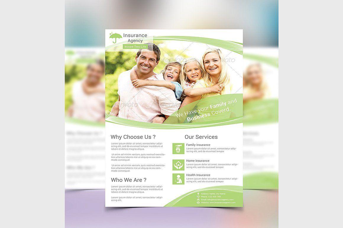insurance flyer template by creative designer on creativemarket