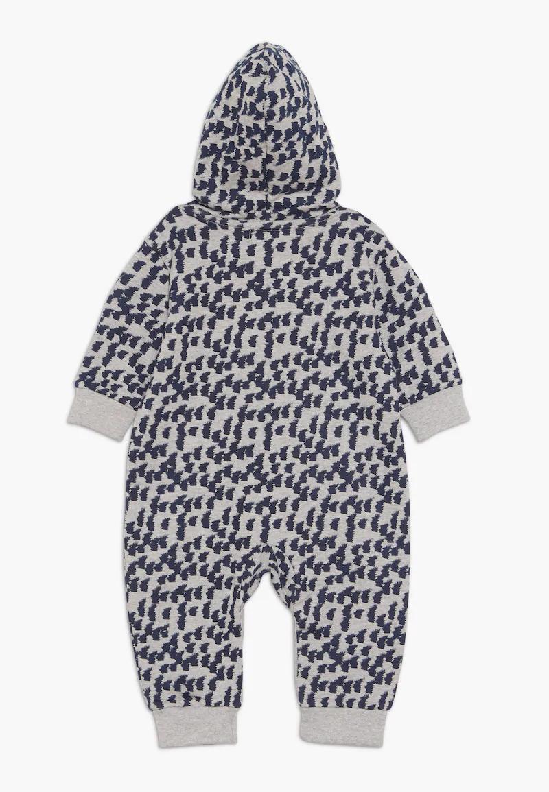 Sense Organics Anoki Baby Hooded Overall Overal Grey Melange Zalando Cz Overalls Fashion Rompers