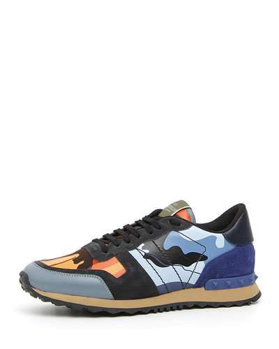 76074f473a7 Valentino Garavani Men's Rockrunner Camo Trainer Sneakers | Products ...