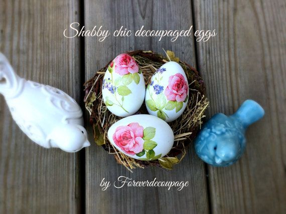 Decoupaged easter eggs shabby chic easter pink roses decorated decoupaged easter eggs shabby chic easter pink roses decorated eggs hostess gift spring decor handmade decorative eggs set of 6 negle
