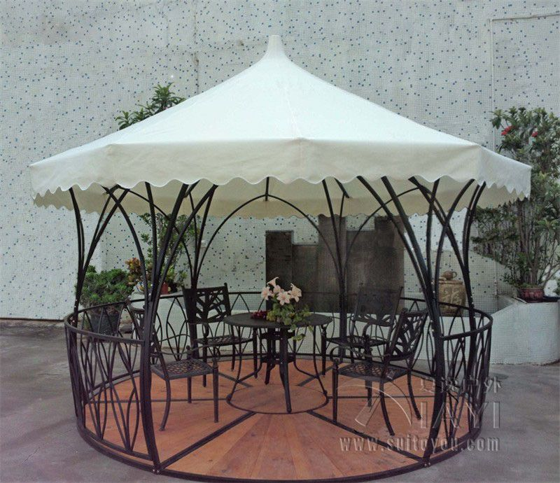 High Quality Cheap Outdoor Gazebo, Buy Quality Patio Tent Canopy Directly From China  Patio Canopy Suppliers: Dia Luxury Meter Steel Iron Rattan Outdoor Gazebo Tent  Patio ...