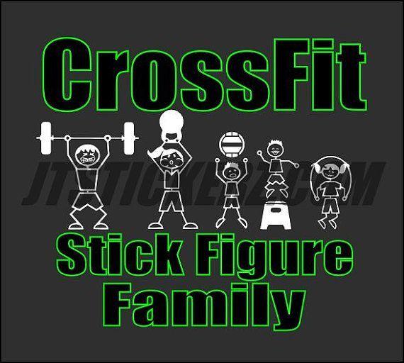 crossfit stick figure stickers - Google Search