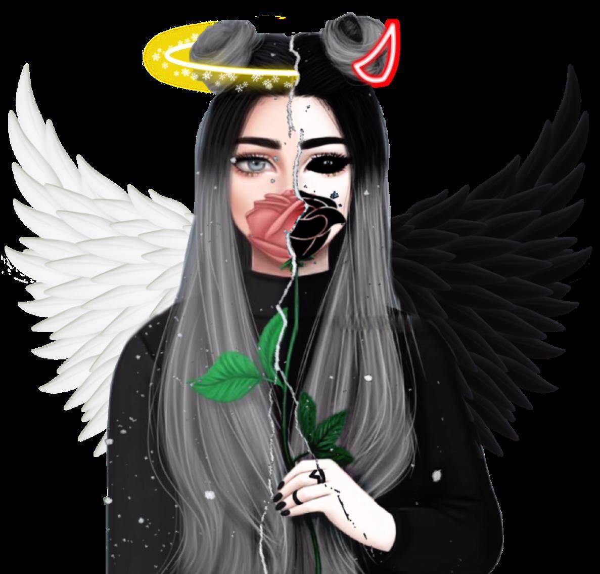 anime art angel Sticker by makaoglu em 2020 Fotos