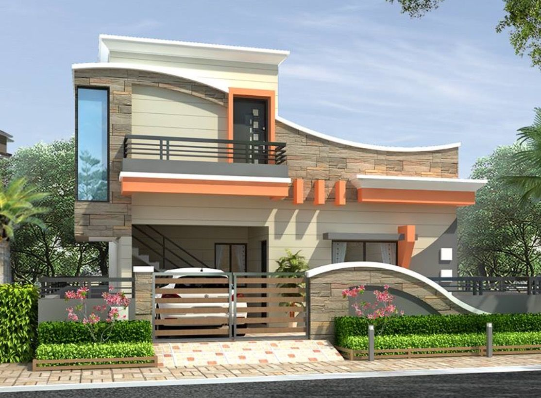 House Exterior Design, House Exteriors, House Design, Narrow House,  Smallest House, Modern Houses, Bungalow, Villa, House Plans