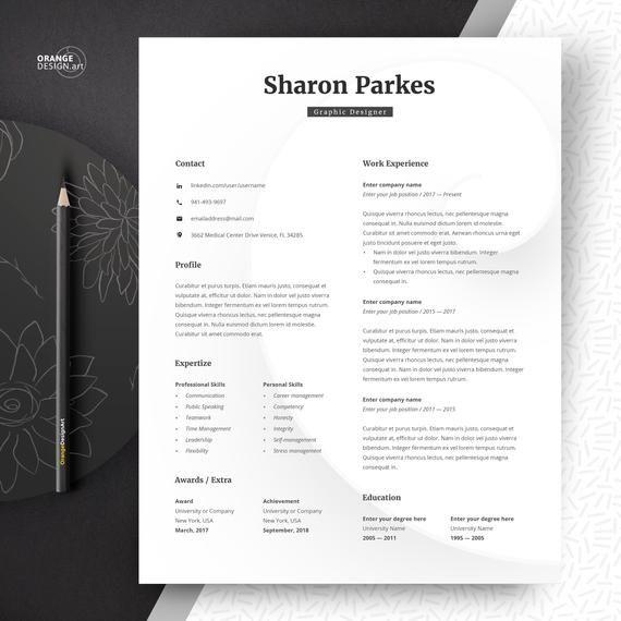 Designer Resume Template Word Lebenslauf Minimalist Creative Graphic CV I