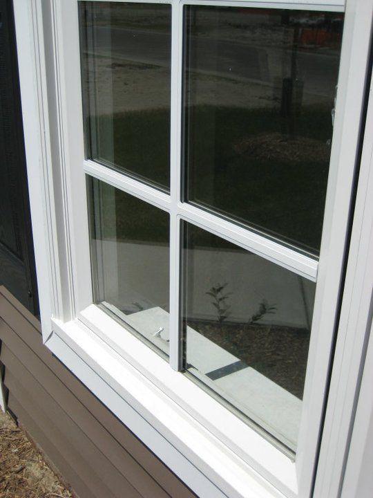 Close Up Of Integrated Brick Mould Brick Molding Windows Exterior Window Vinyl