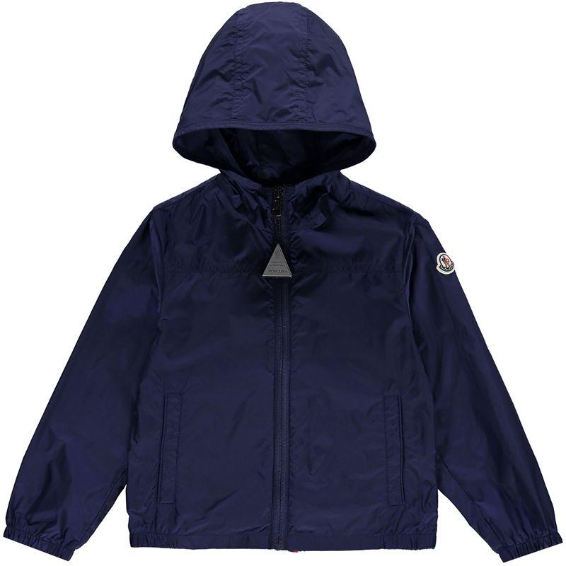 MONCLER Boys Blue Fronsac Rain Jacket - Jakss