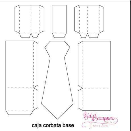 Caja corbata base   Patrones de caja, Cajas, Moldes de caja