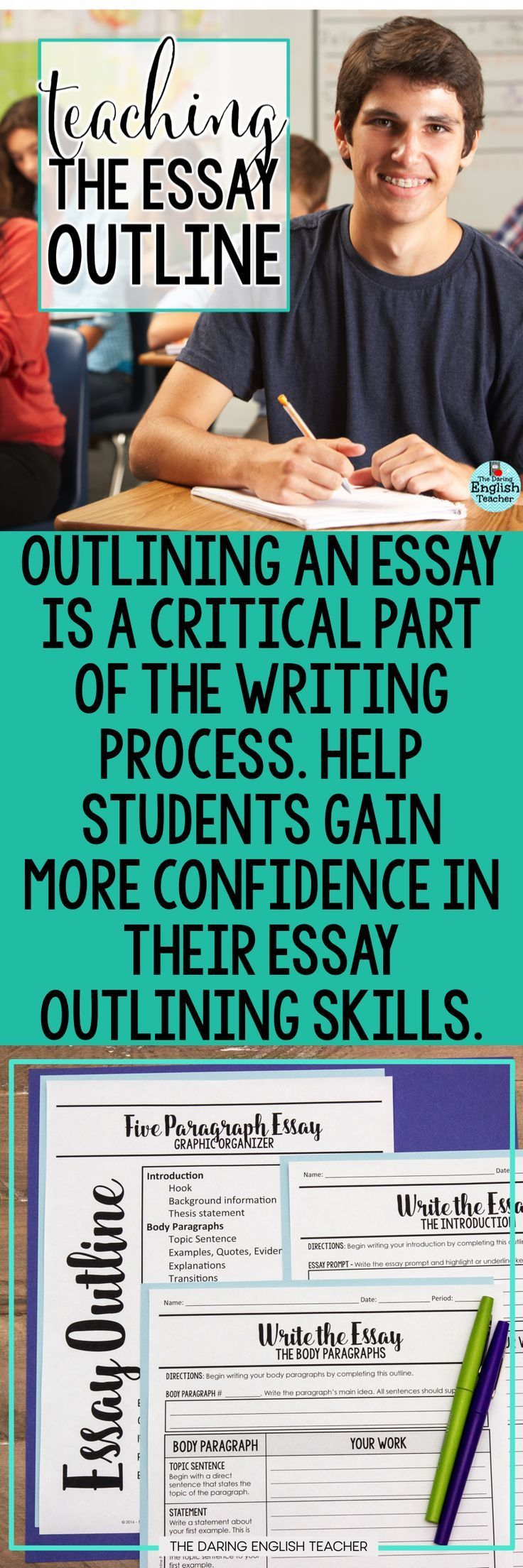 teach students how to outline their essays high school writing  teach students how to outline their essays high school writing middle school writing