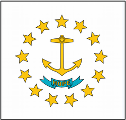 Rhode Island Native Flag Stickers Flag Decals RI State Flag Stickers