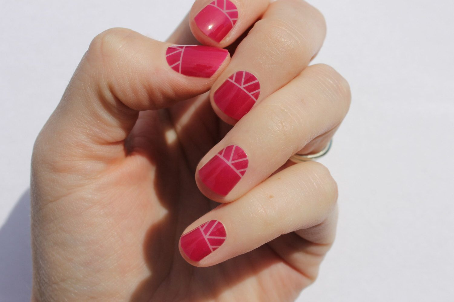 Raspberry Indio Nail Wraps by SoGloss on Etsy https://www.etsy.com ...