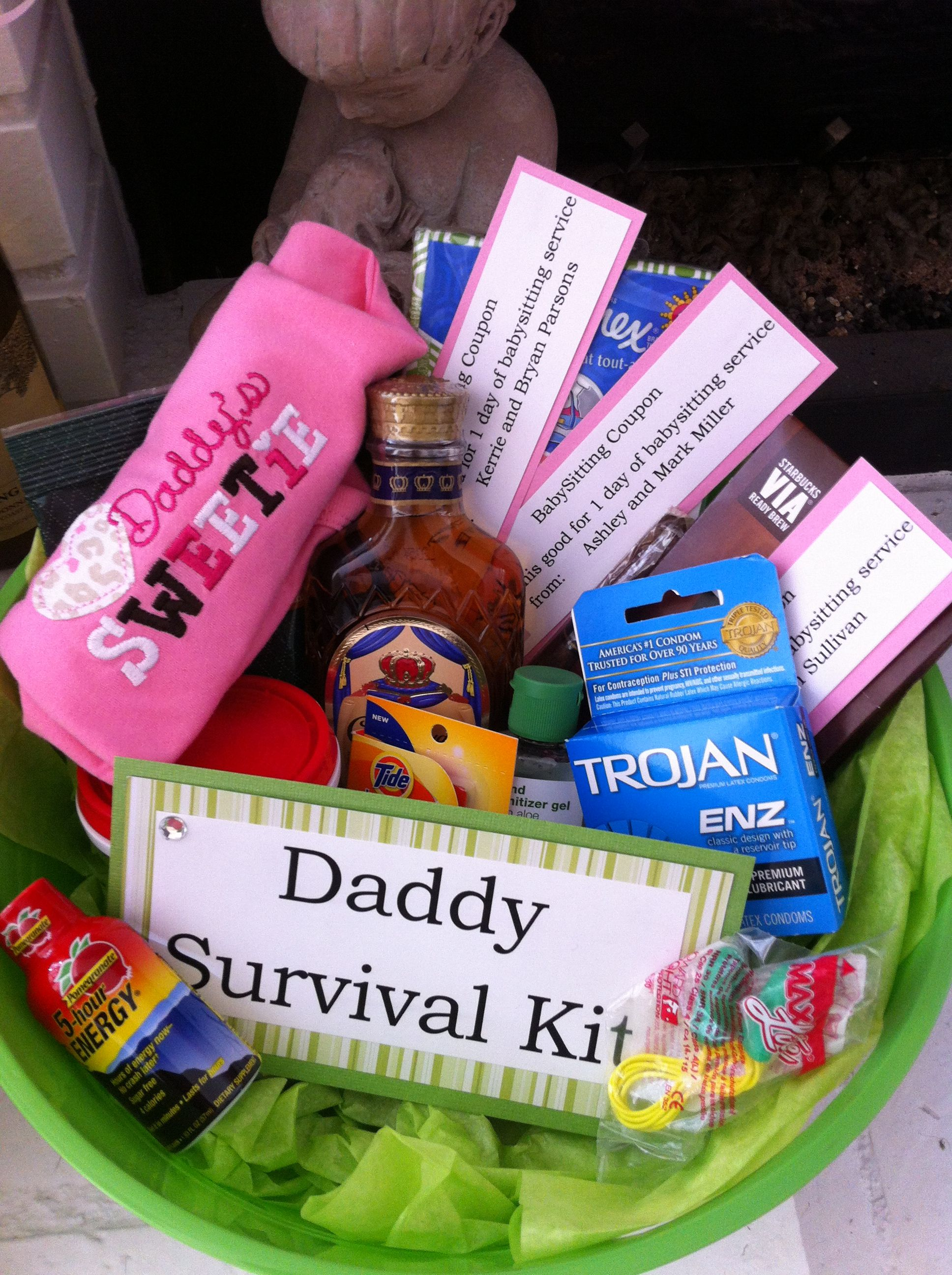 Daddy survival kit made for colton daddy survival