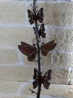 Charmant 5er Set Schmetterling Rost Garten Deko Metall Edelrost Falter Mit Schraube  Tier