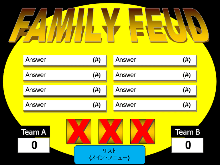 Make Your Own Family Feud Game with These Free Templates | Pinterest ...