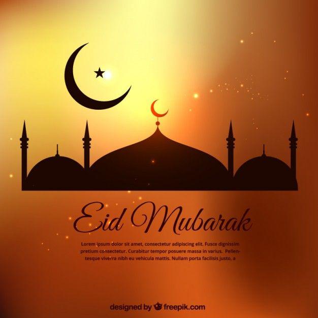 Eid Mubarak modèle dans des tons dorés - eid card templates
