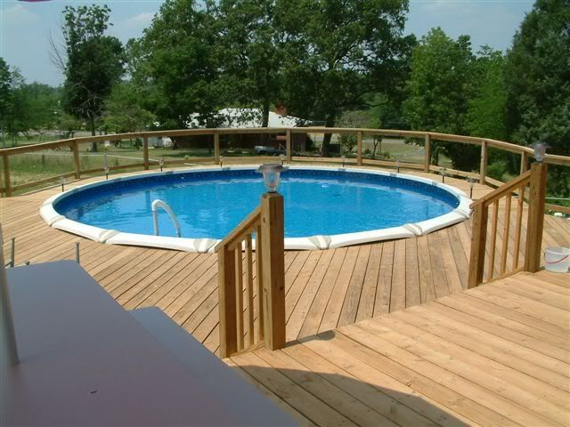 decks around above ground pools great here are some pictures jacuzzi deck pool and deck - Above Ground Pool Deck Off House
